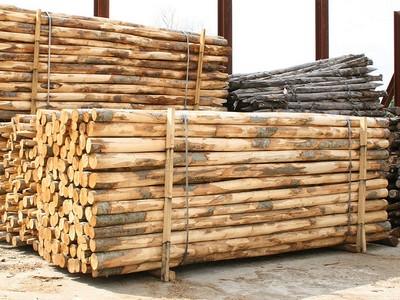 Pali castagno scortecciati 8 10 per recinzioni palizzate staccionate vigne ebay - Palizzate in legno per giardino ...