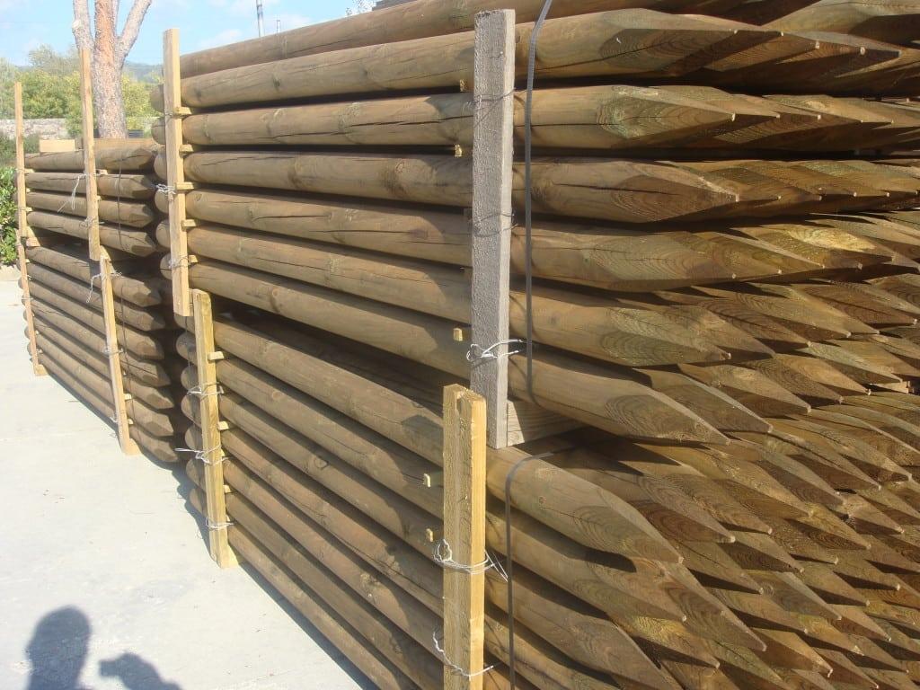 Pali pino torniti impregnati in autoclave 6 vela s r l for Bricoman legno lamellare
