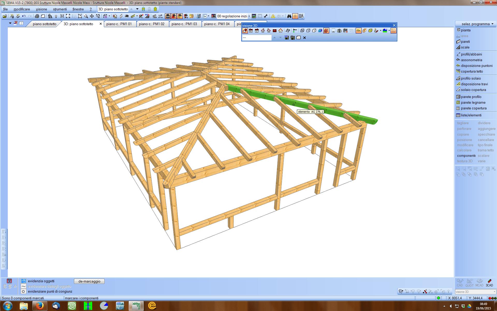 Progettazione completa di tetti e strutture in legno in 3d for Progetto gazebo in legno pdf